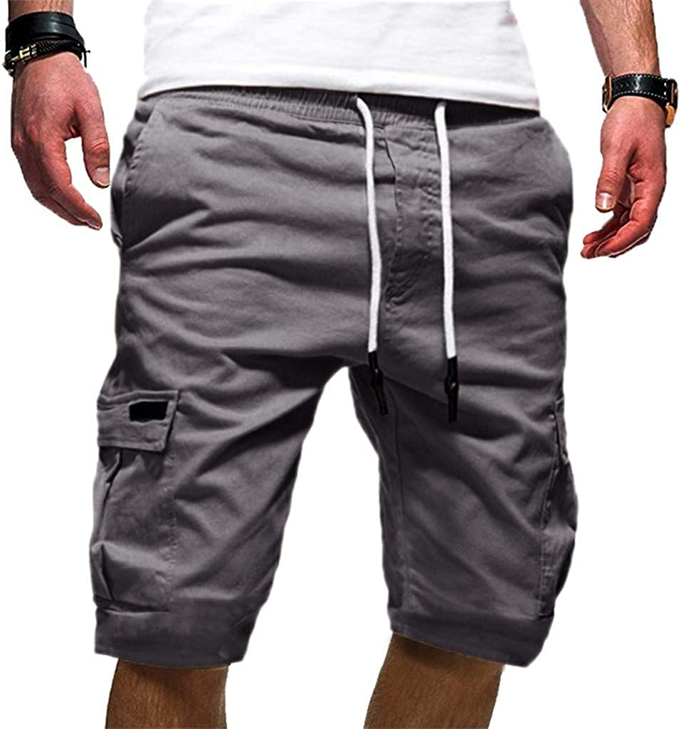 Mens Sport Shorts Pant Respctful✿Mens Cotton Casual 3//4 Jogger Capri Pants Breathable Below KneeJogger Pants
