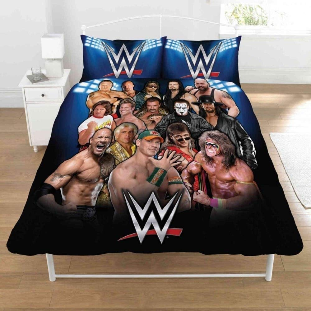 WWE Legends Duvet Set, 50 Percent Cotton/50 Percent Polyester, Multi-Colour, Double, 200 x 200 cm Dreamtex DP1-WWE-LEG-08