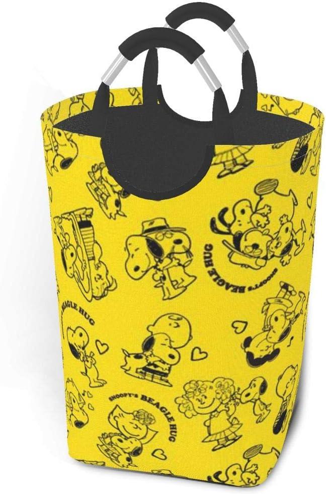 GCNqat Laundry Basket Snoopy Love Hug Laundry Hamper Foldable Clothes Bag Folding Washing Bin