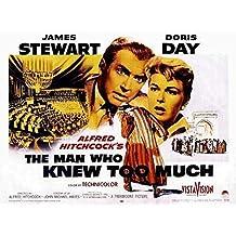 The Man Who Knew Too Much Poster Movie Half Sheet 22 x 28 Inches - 56cm x 72cm James Stewart Doris Day Brenda de Banzie Bernard Miles Ralph Truman Daniel Gelin Alan Mowbray
