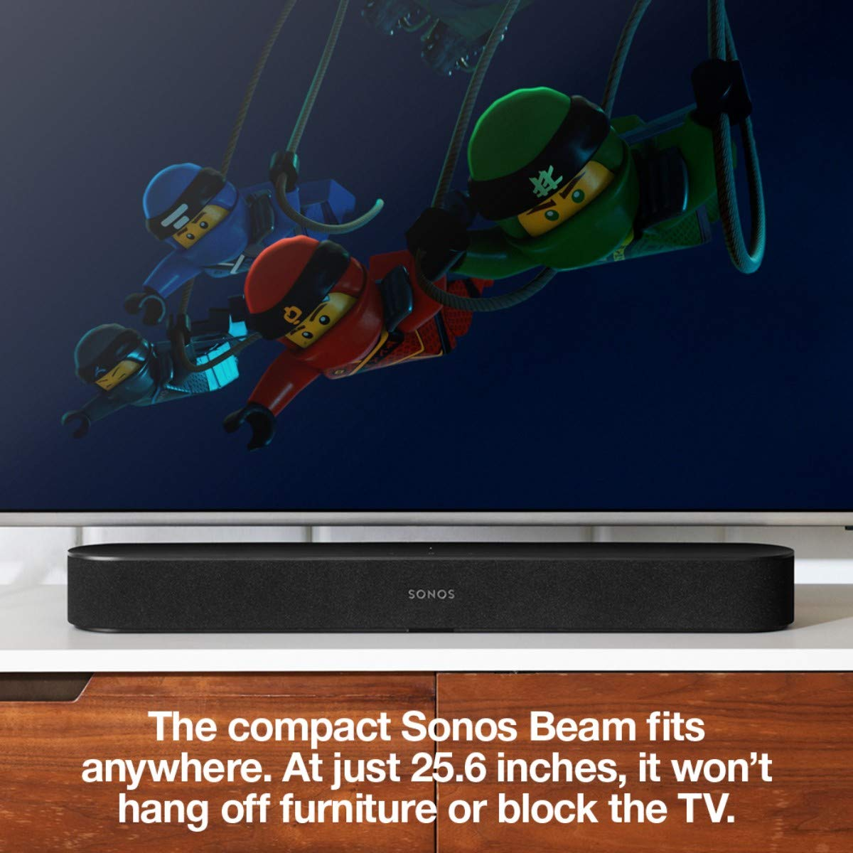 All New Sonos Beam Compact Smart Tv Soundbar With No Picture And Audio On My Amazon Alexa Voice Control Built In Wireless Home Theater Streaming Music Any Room
