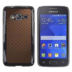 TopCaseStore / la caja del caucho duro de la cubierta de protección de la piel - Pattern Wallpaper Brown Coffee Classic - Samsung Galaxy Ace 4 G313 SM-G313F