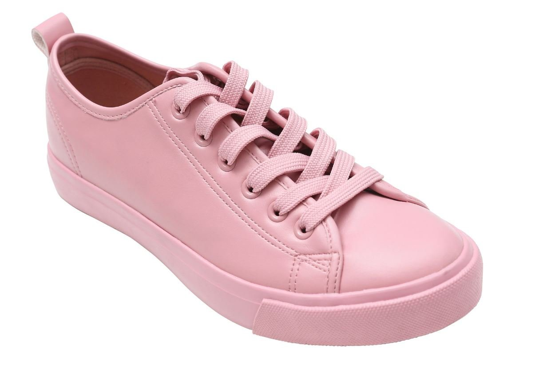 d11afc3766025 Fashion Sneakers Women, Pink Blush Sneaker, Mono Lace Up Classic ...