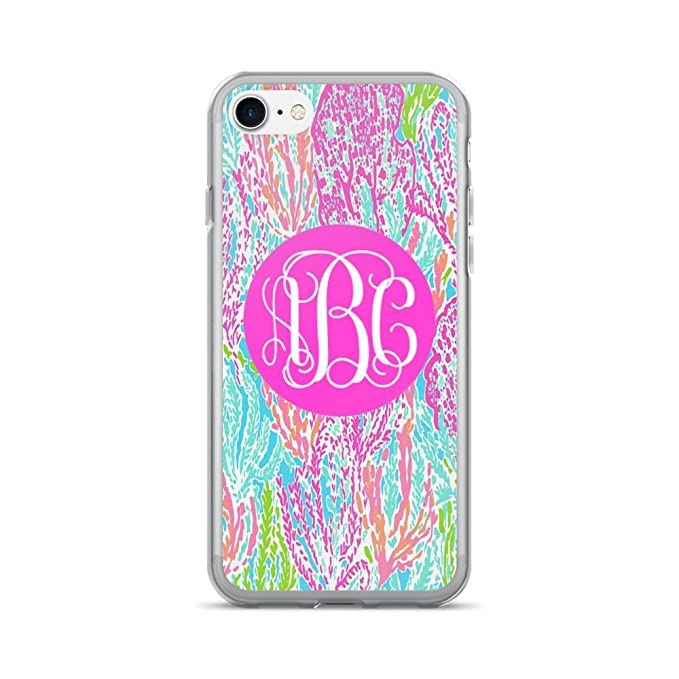 928ae54996255 Amazon.com: Custom Monogrammed - Lilly Inspired Print - iPhone 7 or ...