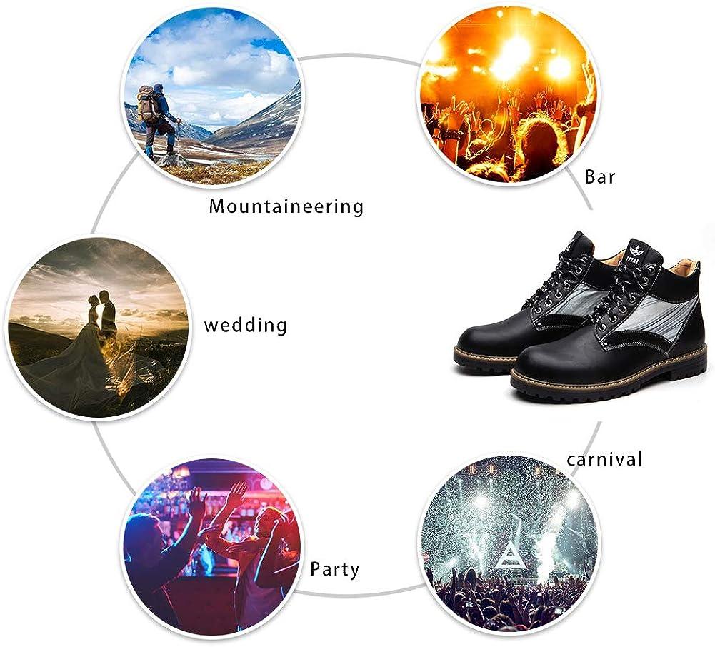 JITAI Cuir Chukka Hommes Bottes dhiver Bottines Imperm/éables Bottes D/équitation en Plein Air De Travail Bottes De Neige Chaussures Hommes