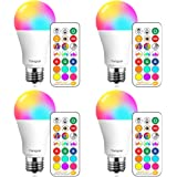 Yangcsl LED Light Bulbs 85W Equivalent 1200lm, RGB Color Changing Light Bulb, 6 Moods - Memory - Sync - Dimmable, A19 E26 Scr
