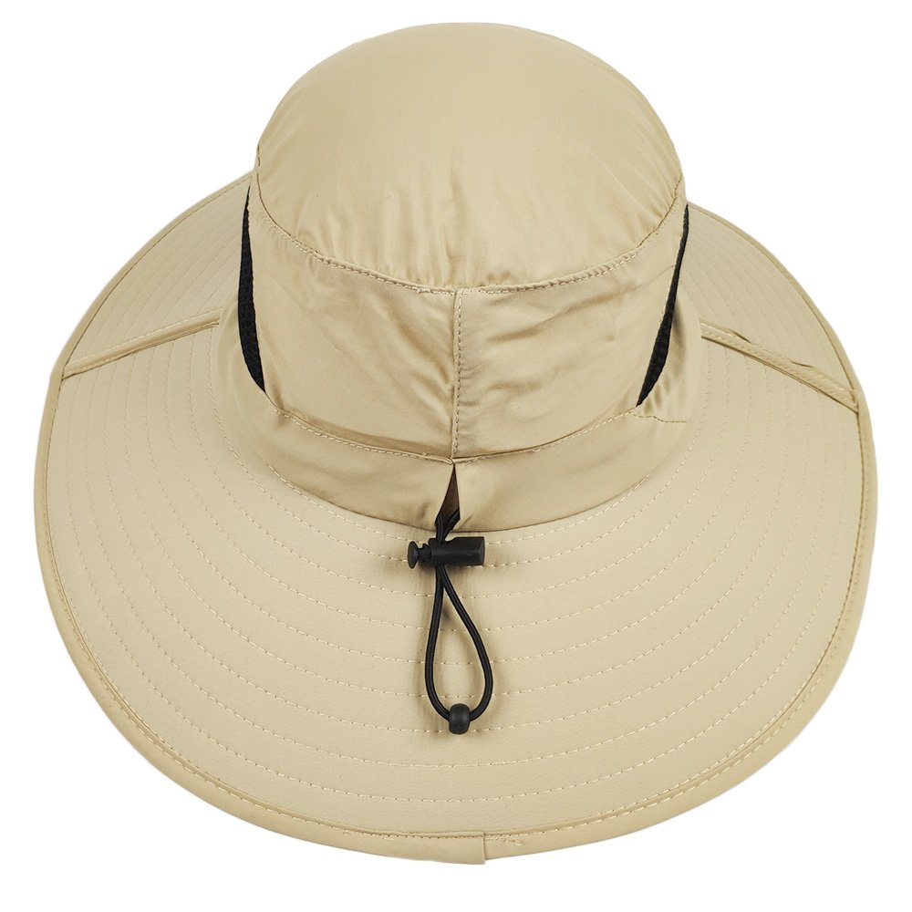 2f076b65d63 Amazon.com   LETHMIK Outdoor Waterproof Boonie Hat Wide Brim Breathable  Hunting Fishing Safari Sun Hat   Sports   Outdoors