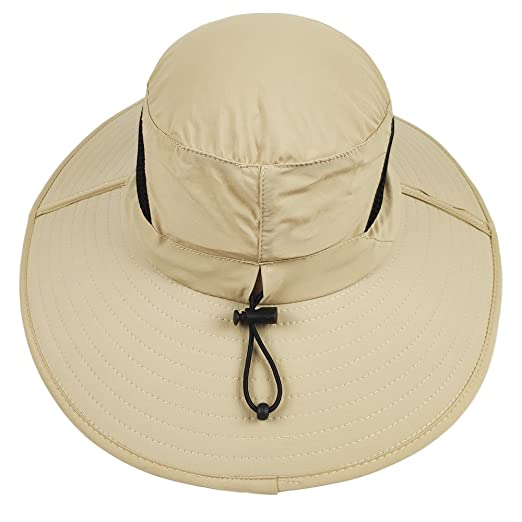 713ae11a2bd0f Amazon.com   LETHMIK Outdoor Waterproof Boonie Hat Wide Brim Breathable  Hunting Fishing Safari Sun Hat   Sports   Outdoors