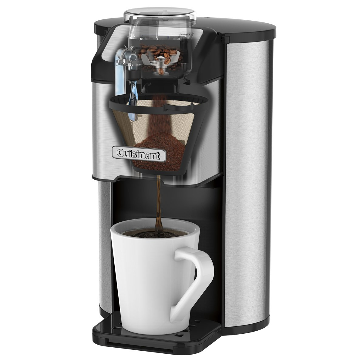 CUISINART Single Cup Grind and Brew, DGB-1C, Silver/Black