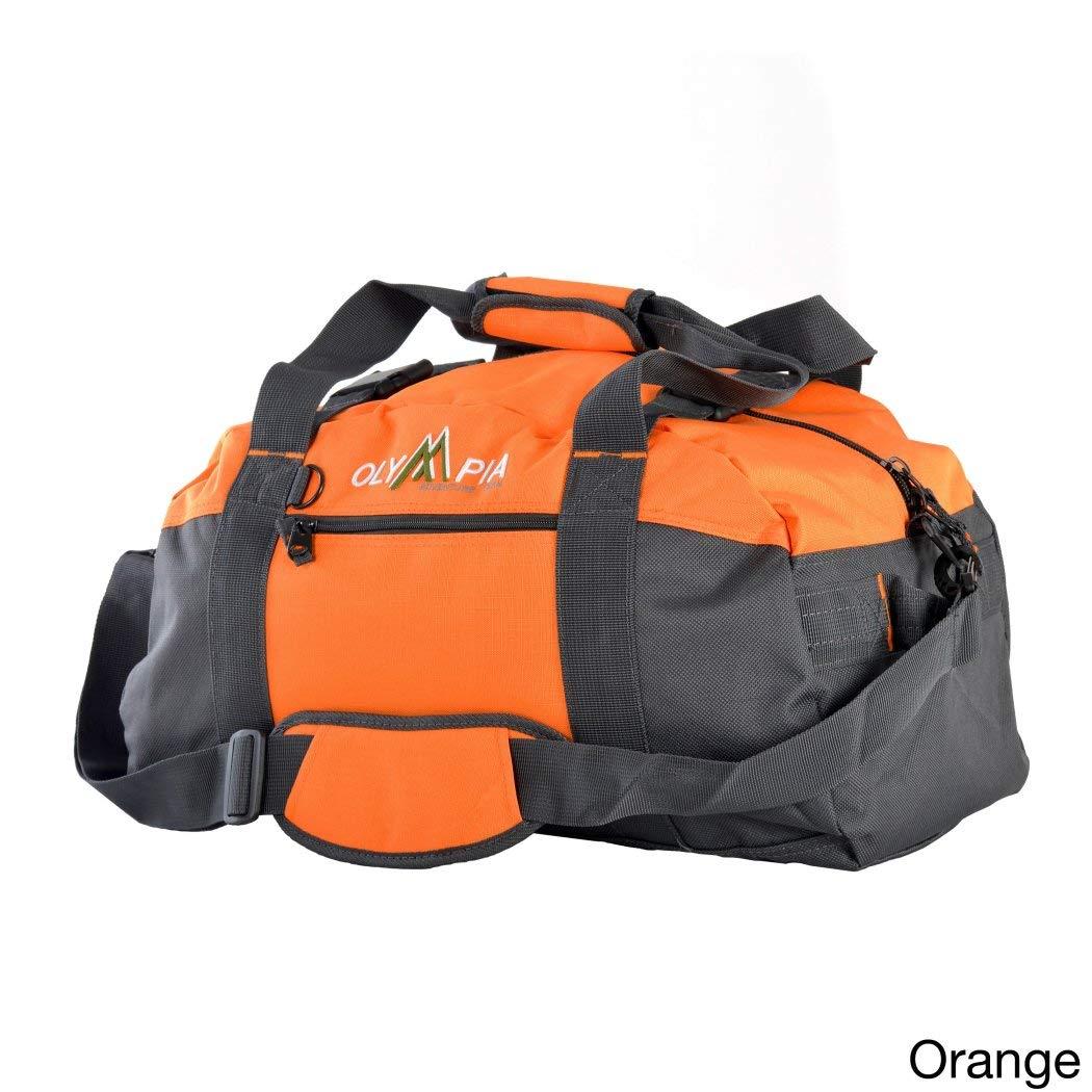 オレンジ21-inchスポーツダッフルバッグ、ポリエステル、multi-compartment、調節可能なストラップ   B01M4OHIVW