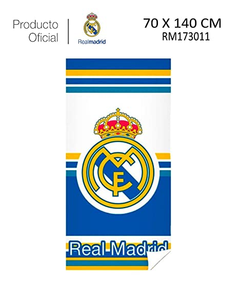Real Madrid C.F. Toalla DE Playa Y Baño Real Madrid (RM173011, 70X140CM)