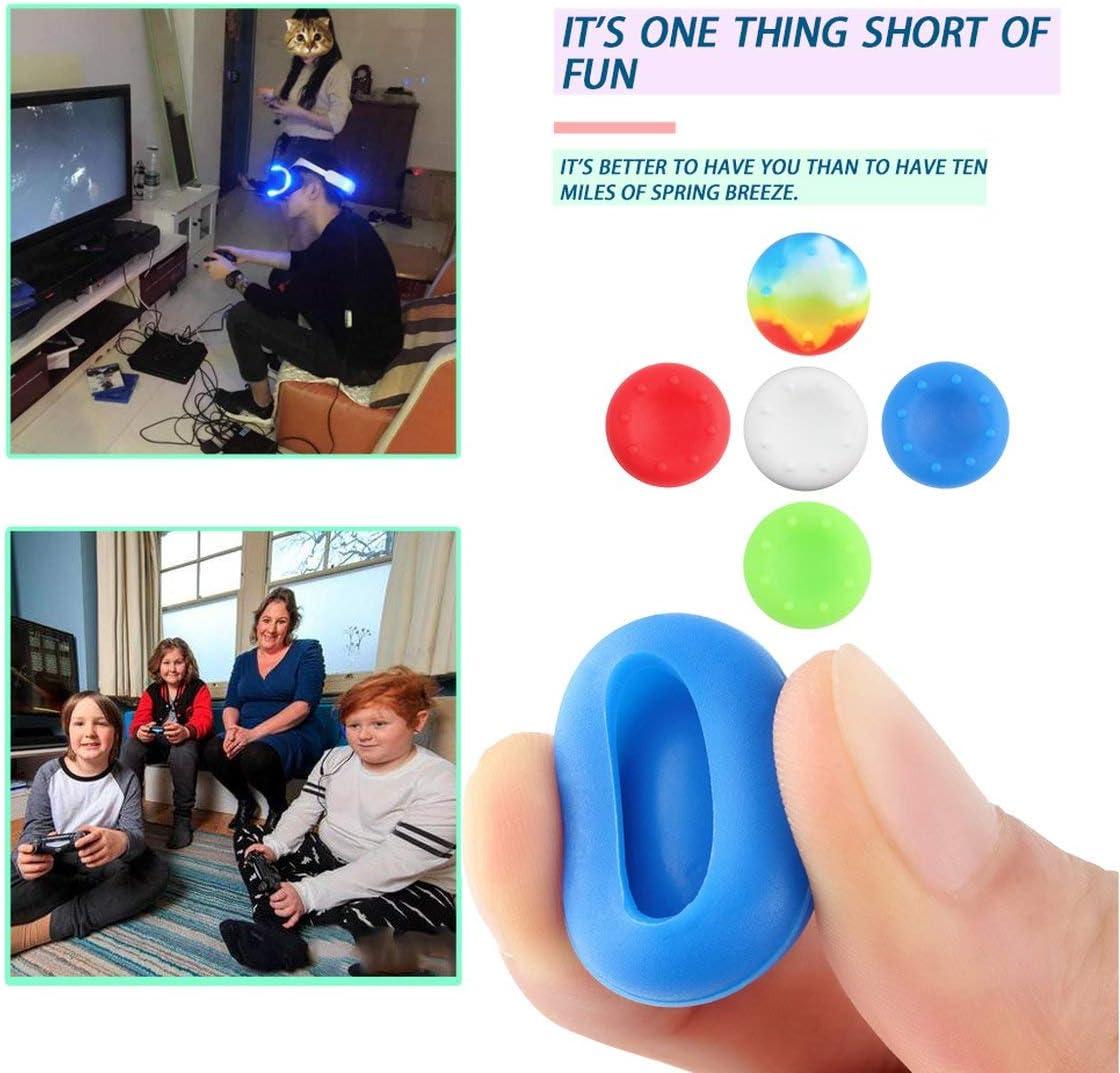 azul Funnyrunstore 10 piezas de silicona a prueba de polvo a prueba de suciedad Controlador anal/ógico Thumb Stick Grip Thumbstick Thumbstick GripsCapa para PS4 XBOX ONE