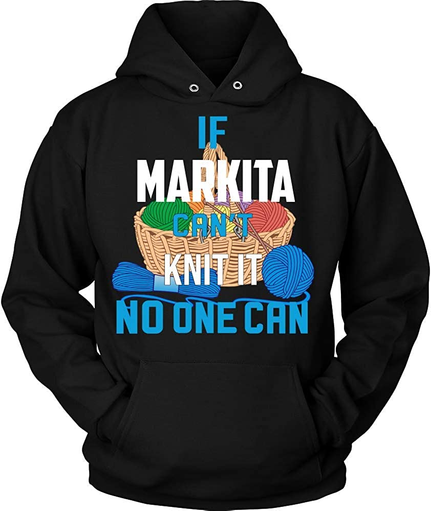 NO ONE CAN Hoodie Black IF Markita Cant Knit IT