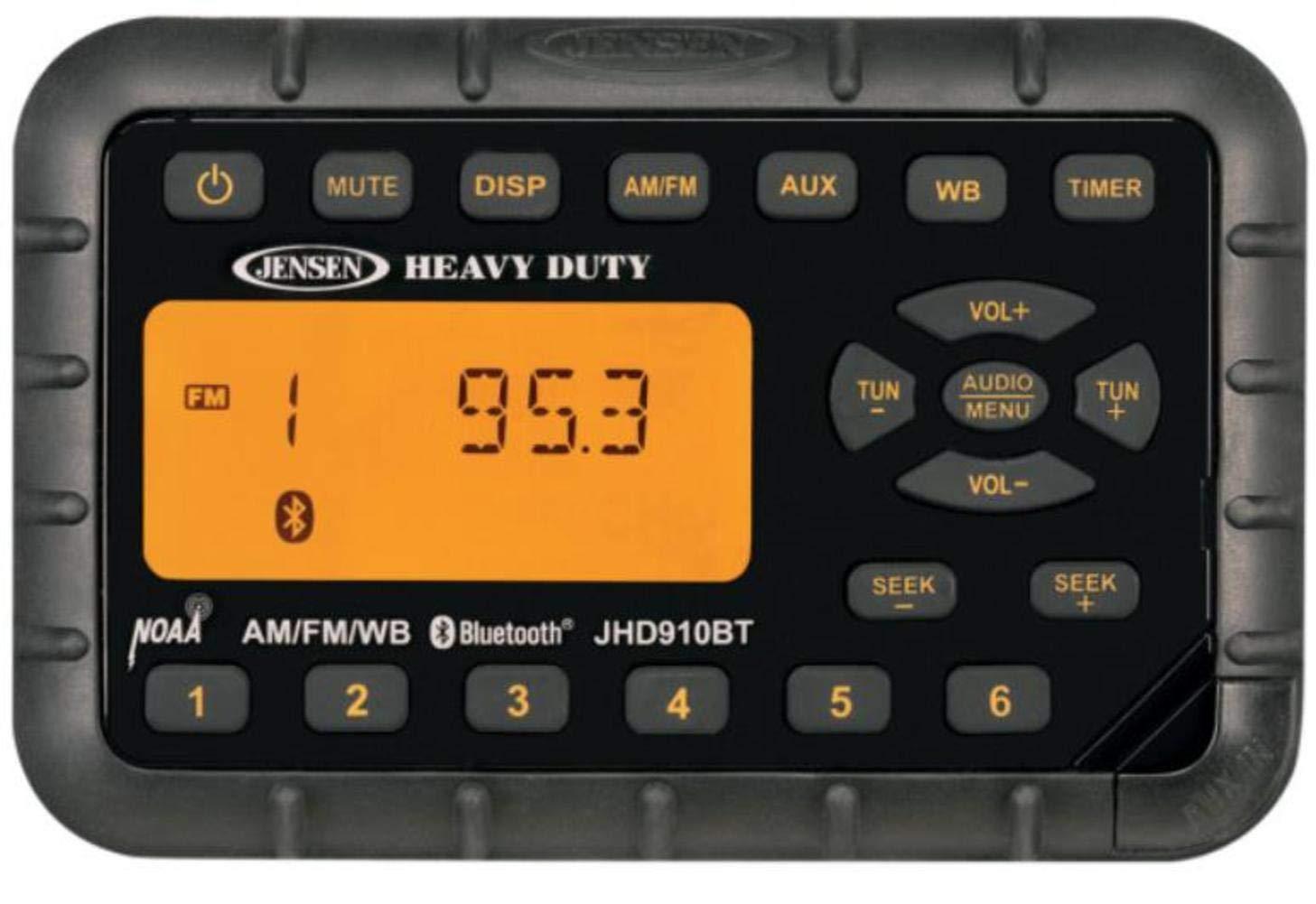 Jensen jhd910bt AM/FM/WB resistente impermeable mini radio con ...