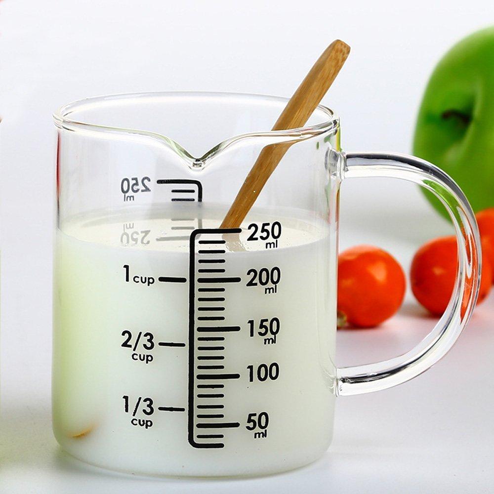 Compra asentechuk® Transparente Cristal Digital leche taza de ...