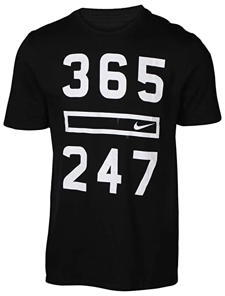 d359c9b0edb Nike Men's 365 247 Graphic T-Shirt-Black-Large: Amazon.ca: Clothing ...