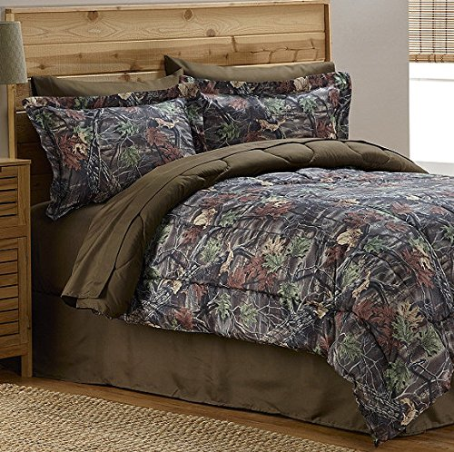 Camouflage Mossy Tree Hunting Cabin Boys Twin Comforter Set (6 Piece Bed In A Bag) + HOMEMADE WAX MELT!