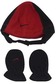 cbb3b100be9 Amazon.com  Nike Toddler Boy s Knit Striped Hat   Mittens Set ...