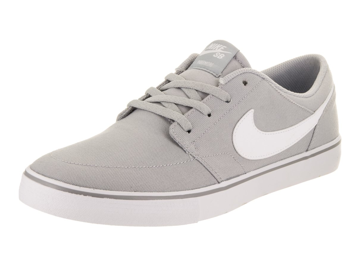 NIKE Men's Sb Portmore Ii Solar Ankle-High Canvas Skateboarding Shoe B01K3NKI3M 11 D(M) US|Wolf Grey/White-black