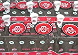 Ohio State, Party, Barbecue Set, Plates, Napkins, Jumbo Cup and a Tablecloth 49 Pieces Set.
