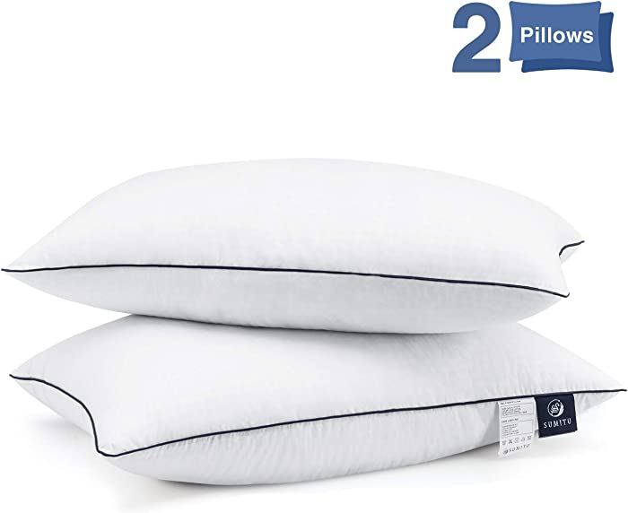 Bed Pillows for Sleeping 2 Pack, Hypoallergenic Pillow for Side and Back Sleeper Hotel Pillows Down Alternative Cooling Pillows with Super Soft Plush Fiber Fill, Queen Size