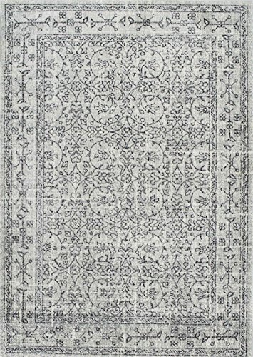 NuLoom Traditional Rectangle Area Rug 8'x10' Grey Vintage Waddell Collection