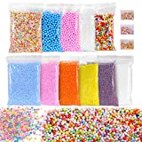 Ohuhu Foam Balls for DIY Slime, 14 Packs Approx 60,000 PCS Decorative Slime Beads For Arts Crafts Ornament, Homemade Slime, Vase and Doll filling and Fruit Flower Candy Slices for DIY Nail Art