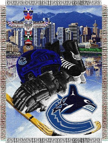 Vancouver Canucks Blanket (NHL Vancouver Canucks Homefield Ice Advantage Woven Tapestry Throw, 48
