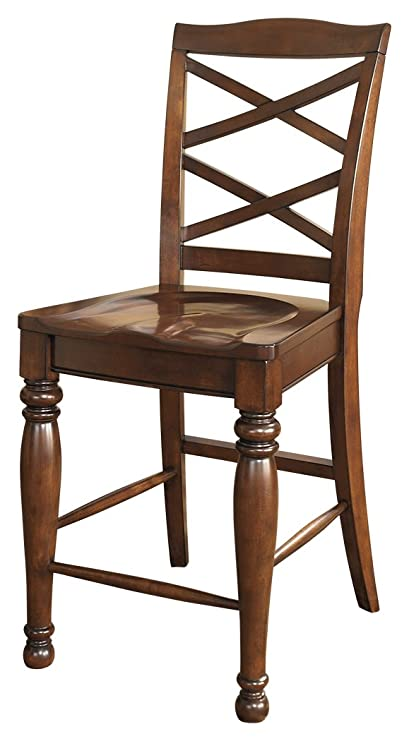 Ashley Furniture Signature Design   Porter Barstool   Rustic Style   Motif  Back   Set Of