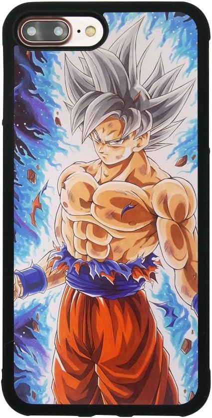 Dragon Ball Super Z Son Goku Ultra Instinct Japanese Anime Case for iPhone 7 Plus / 8 Plus (5.5 Inch) Comic TPU Silicone Rubber Gel Edge PC Bumper ...