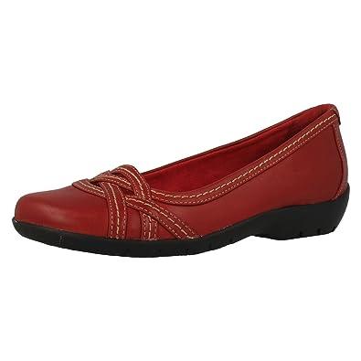1067ece1fcf98 Clarks Ordell Tessa, Ballerines femme - Rouge - rouge, 41 EU  Amazon ...