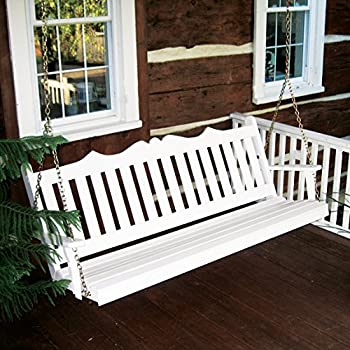 white wood porch swing stand royal crafted yellow pine foot walmart with frame