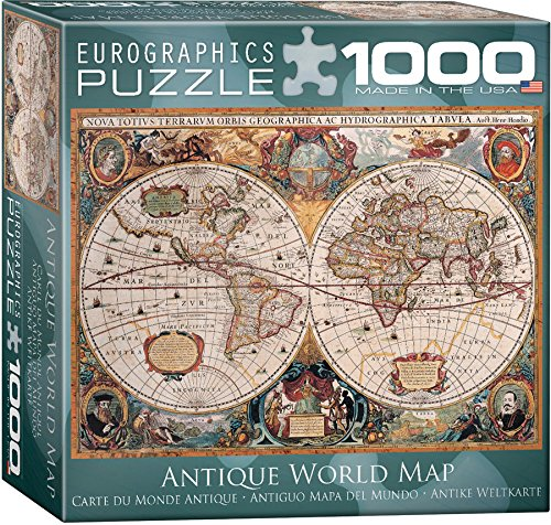 Antique World Map Puzzle, 1000-Piece