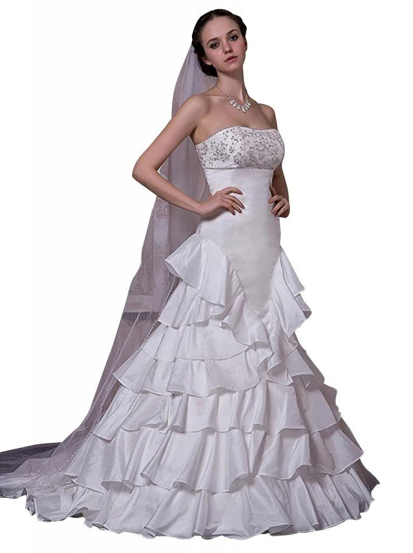 GEORGE BRIDE New Design Modern Strapless Attractive Wedding Dress