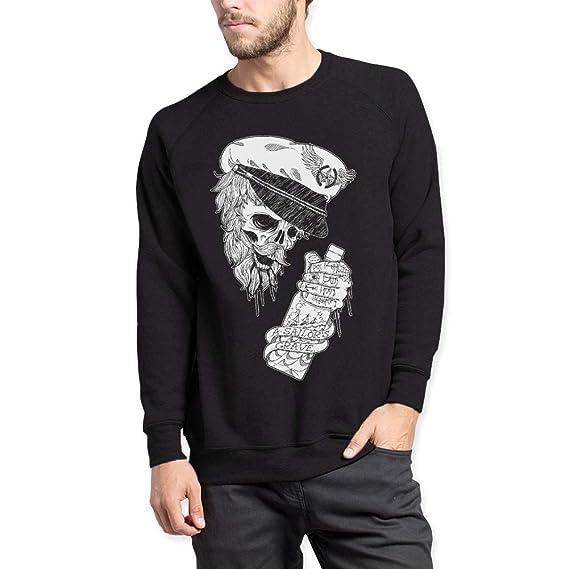 VIENTO Drunk Skull Herren Sweatshirt  Amazon.de  Bekleidung f1a259a791