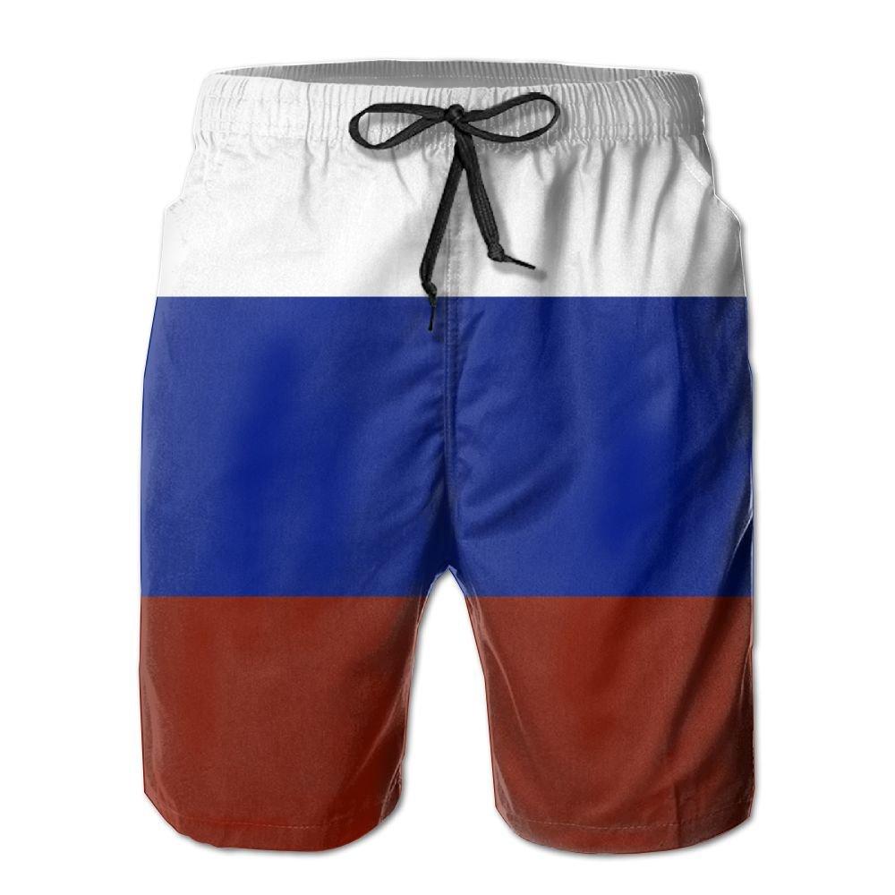 JUTOU Russia Flag Trunks Shorts For Men