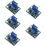 HiLetgo 5PCS SX1308 DC-DCステップアップ電源モジュール調整可能ブースターモジュール大電流2A