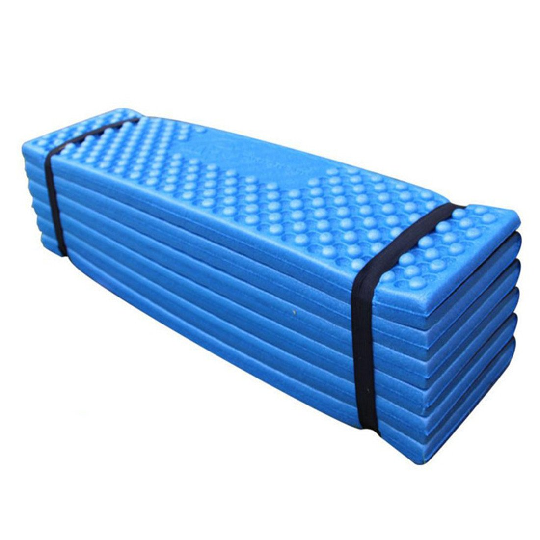 chicsoleil Ultralight Sleeping Pad – ultra-inflatable Air Sleeping Padコンパクトバックパッキングのキャンプ旅行ハイキング B079QGX9XM ブルー&ブラック