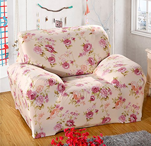 Awe Inspiring Chezmax Floral Pattern Sofa Cover Polyester Fabric Sofa Protector 1 Piece Soft Stretched Sofa Slipcovers Ncnpc Chair Design For Home Ncnpcorg