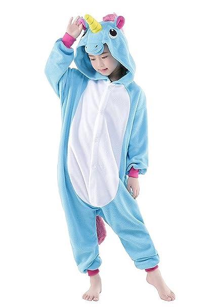 DarkCom Niños Unicornio Mamelucos De Dibujos Animados Pijamas Ropa De Dormir De Halloween Kigurumi Trajes Cosplay