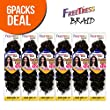 """FreeTress Synthetic Hair Crochet Braids GoGo Curl 12"""" (6-Pack, 2)"""