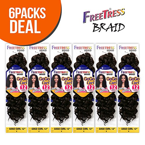 FreeTress Synthetic Crochet Braids 6 Pack product image