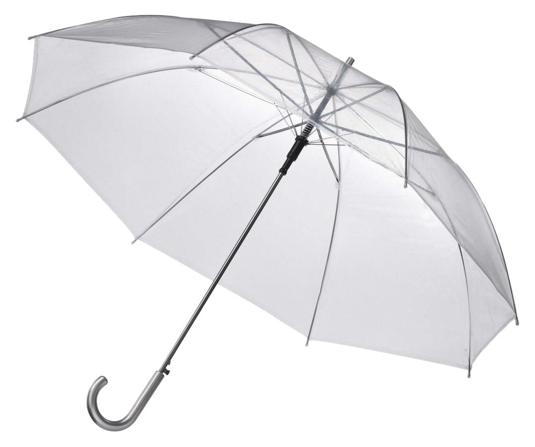 46'' Clear Auto Open Umbrellas - Pack of 10 - Perfect for Weddings and Events by EZbrella