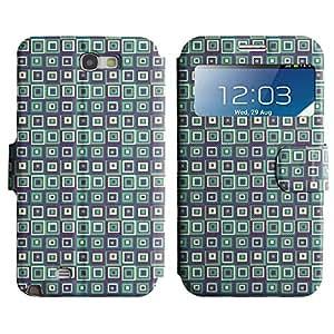 LEOCASE Funda Carcasa Cuero Tapa Case Para Samsung Galaxy Note 2 N7100 No.1007520