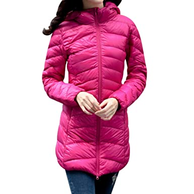 2c97c2754 QN Women Hooded Down Coat,Ultra Light Weight Down Jacket,Womens ...