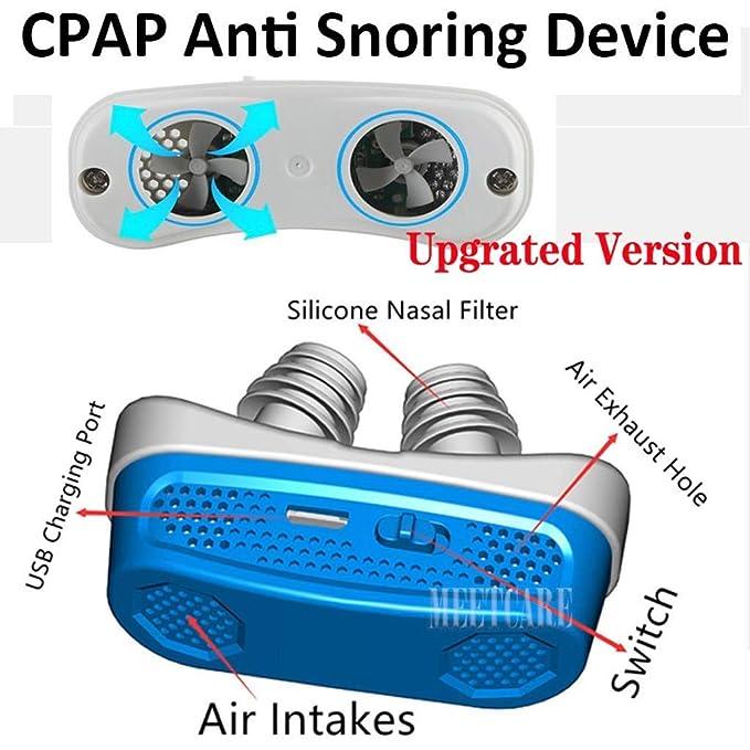 Yowerf Aparato electrónico de respiración Nasal antirronquidos Los dilatadores apnea del sueño ayudan al Equipo a Detener el Equipo de ronquido (Color ...