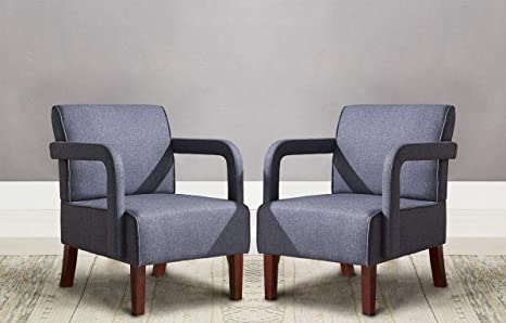Amazon.com: Mid Century Fabric Accent Chairs Set of 2 ...