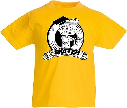 lepni.me Camiseta para Niño/Niña Pro Skate Academy para Patinadores, Longboard, Regalo para Skater