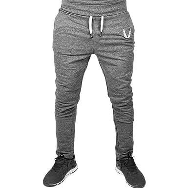 ❉Homme Pantalons De Sport Été Pantalons De Jogging Pantalons De Yoga  Legging Sport Leggings De Compression Pantalons De Survêtement Musculation  Élastique ... dbd5eda1892