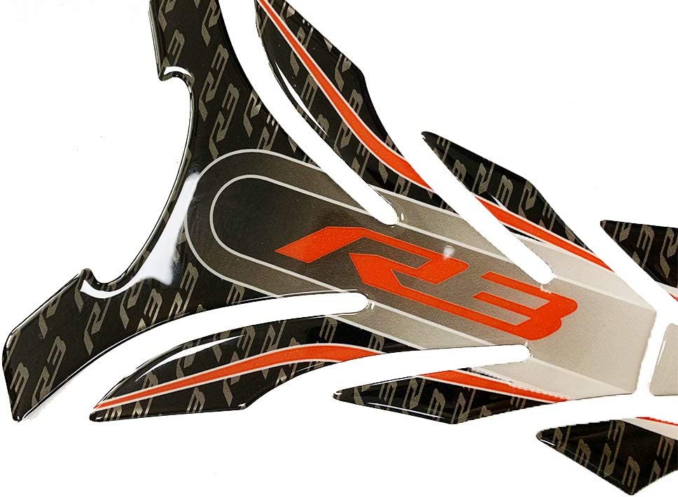 Psler Motorrad 3d Tankpad Aufkleber Für Yamaha R3 Rot Auto